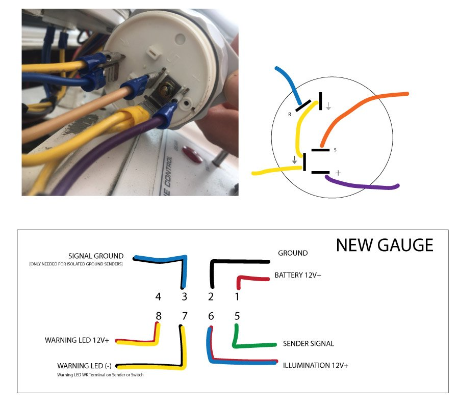 Replacing Old Vdo Temp Gauge With New Vdo Temp Gauge Wiring Question Downeast Boat Forum