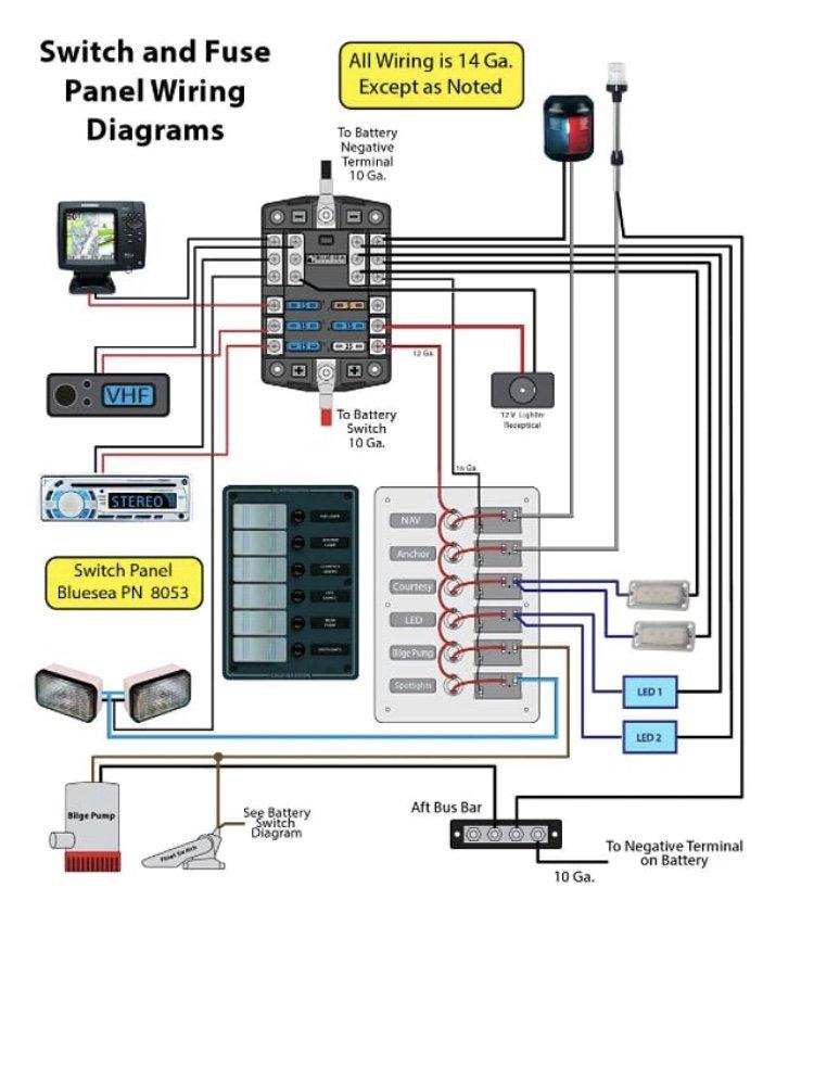 Basic boat wiring diagram | Downeast Boat ForumDowneast Boat Forum