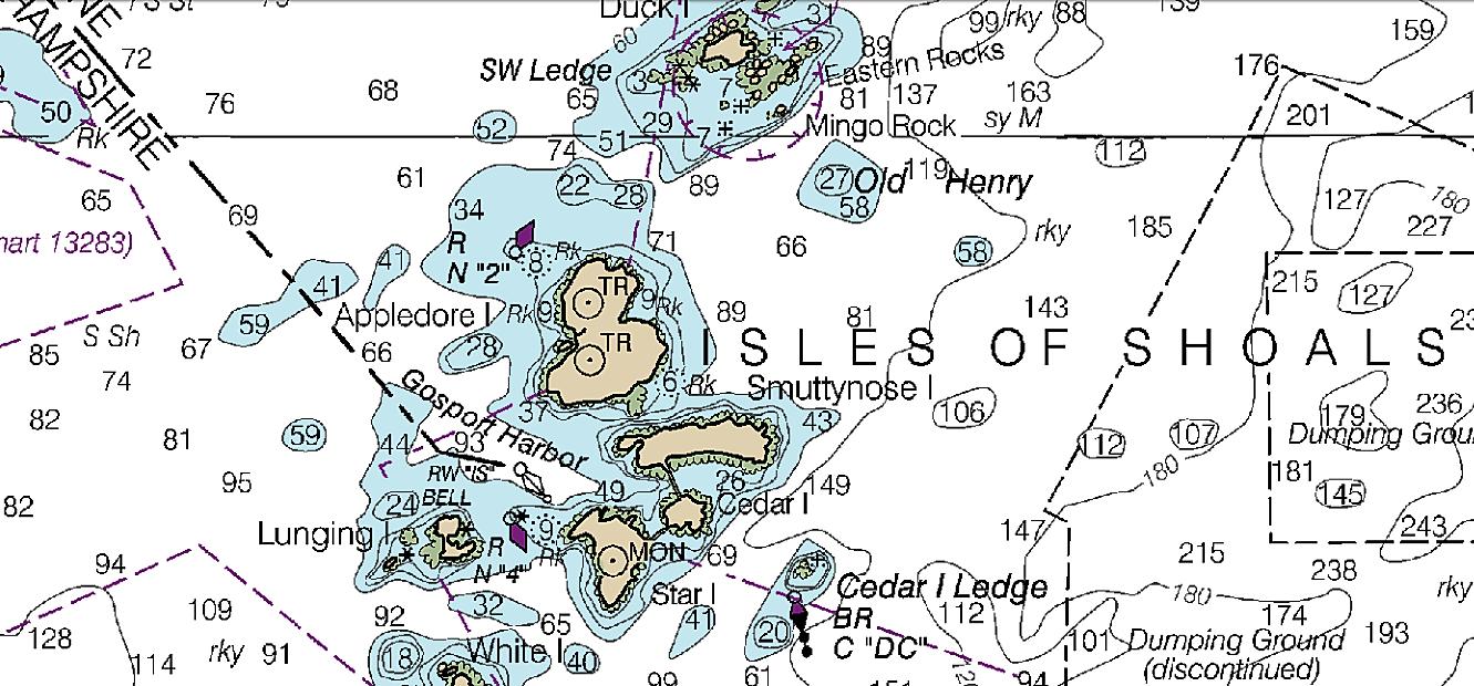 Isles of Shoals Nautical Chart.png