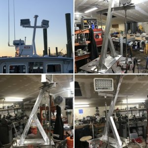 36 bhm aft light mast and gps/Compass - (for the new owner)